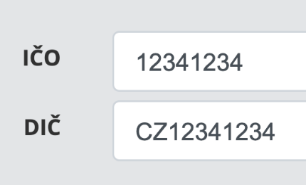 Doplňování adres